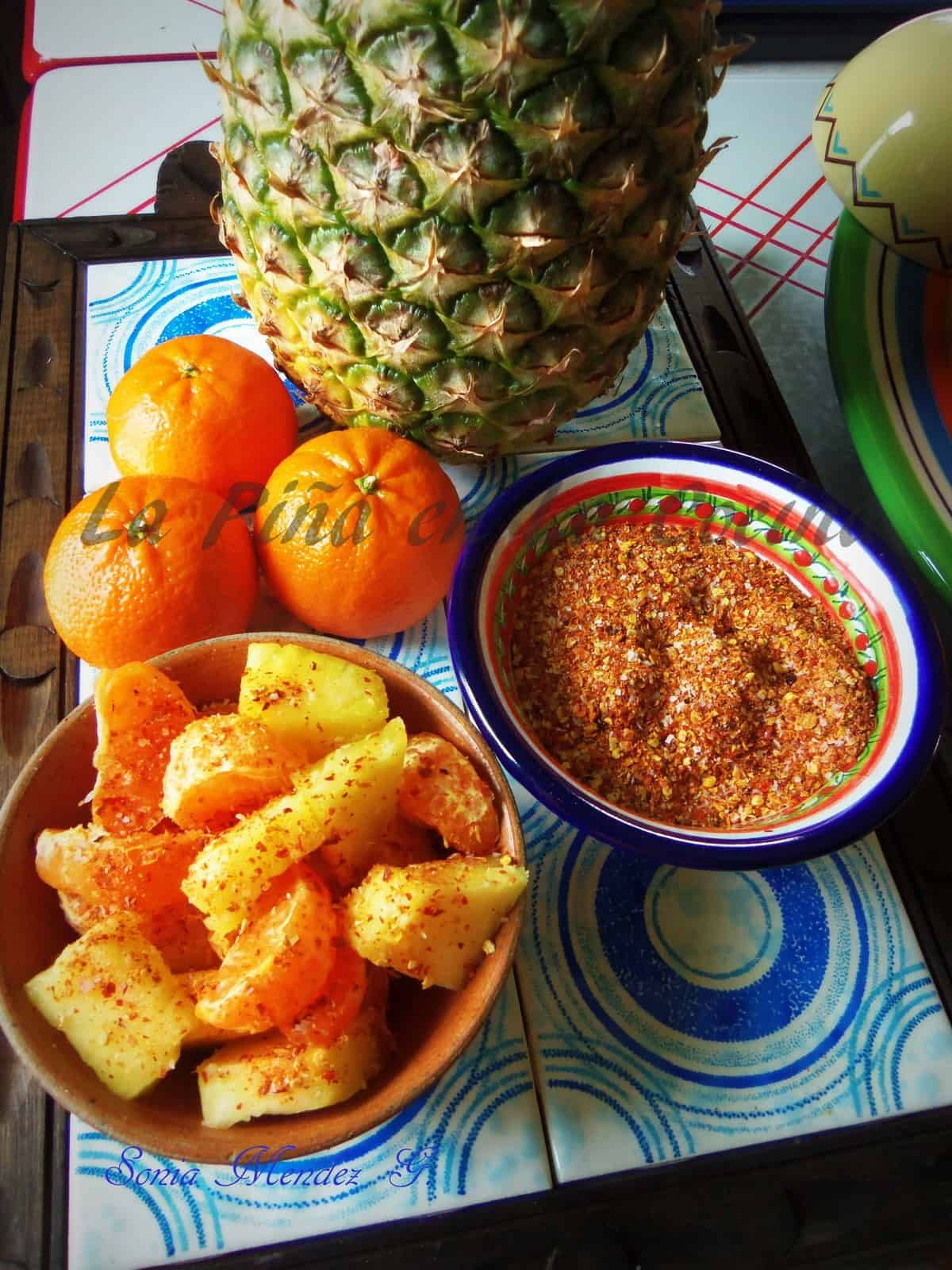 One of my favorite antojitos is homemade chile limon seasoning on fresh fruit.