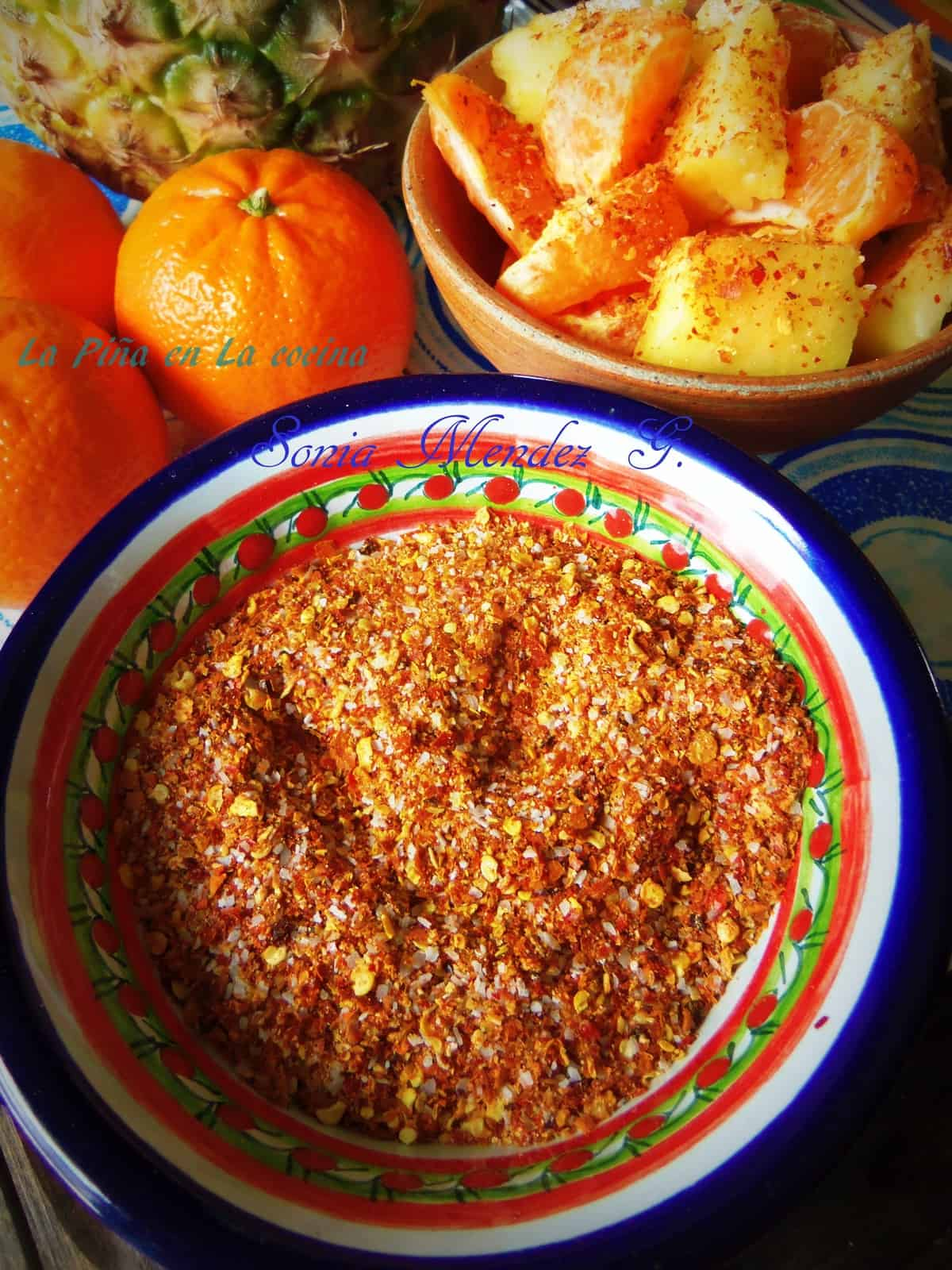 Homemade Chile Limon Seasoning Prepared with Chile de Arbol