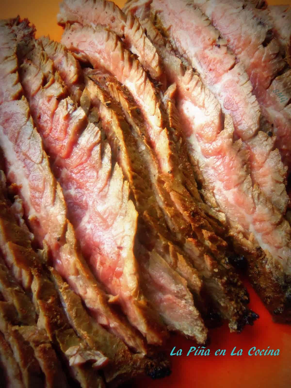 Flank Steak on the Coals