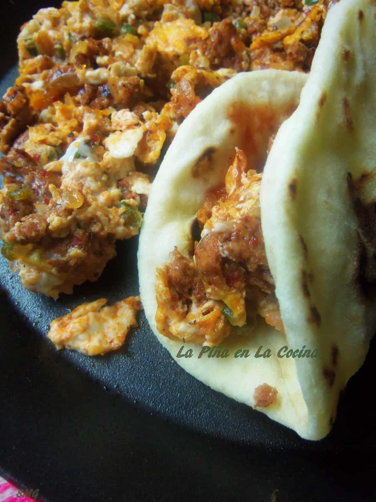 Chorizo con Huevo, the ultimate Mexican breakfast taco!