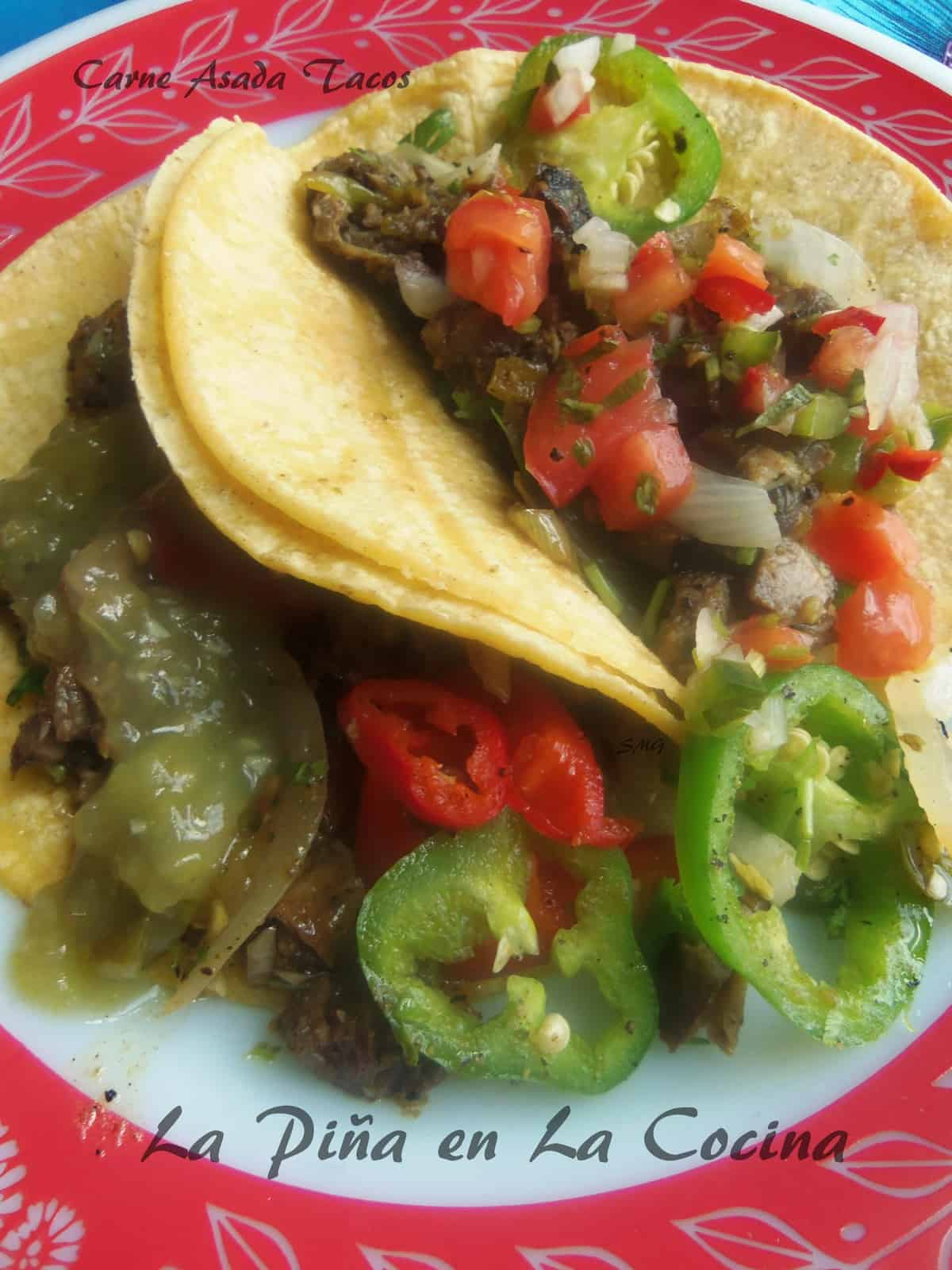 Using my leftovers of Reverse Marinated Steak, I quickly assembled these tasty tacos for brunch the next day.