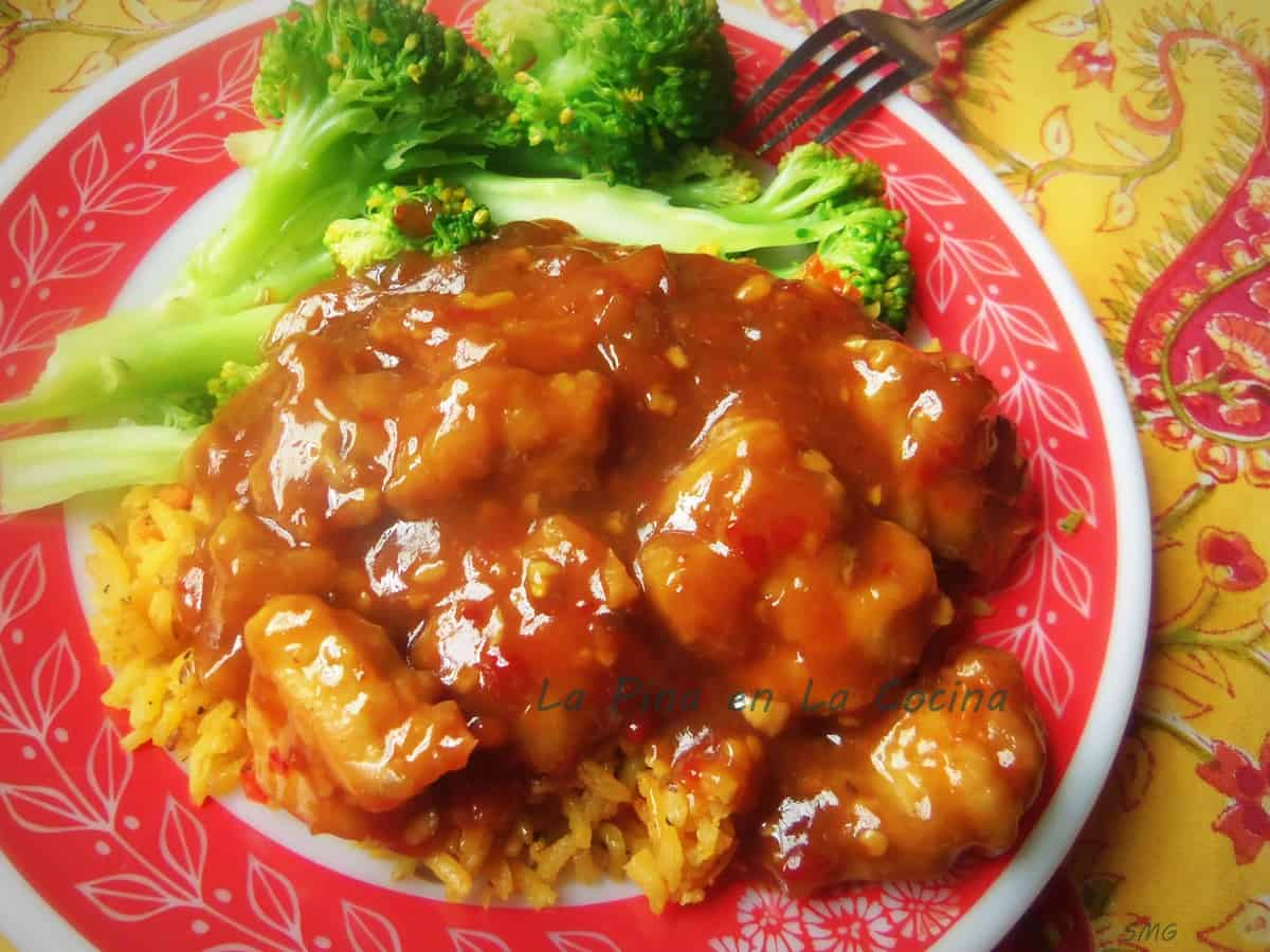 My twist on a Spicy General Tso's Chicken