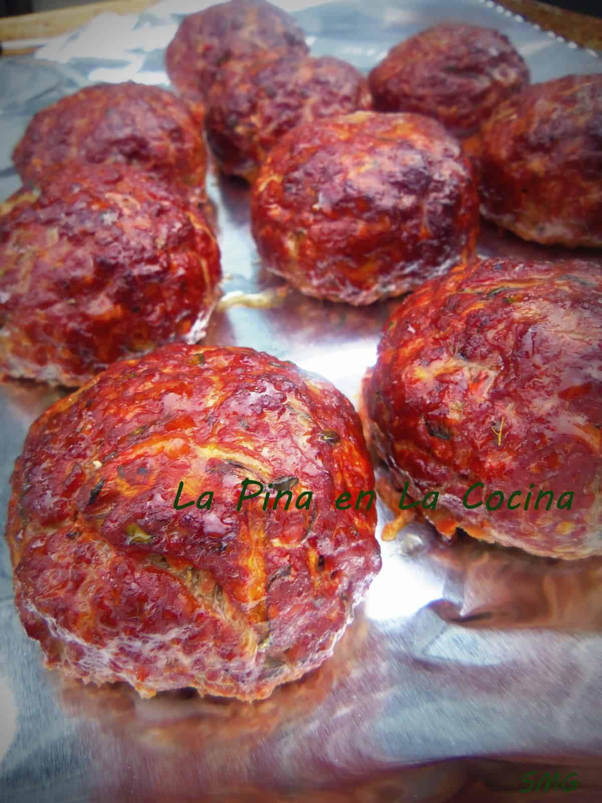 Grilled Beef and Zucchini Meatballs Stuffed with Hot Peppers