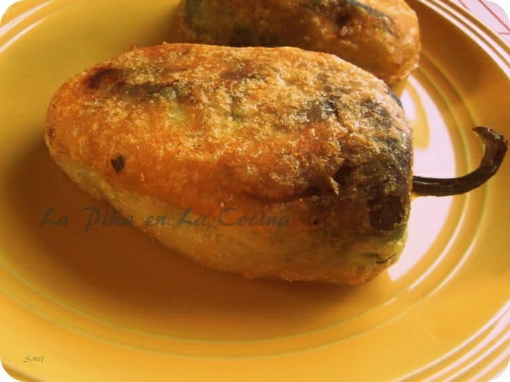 Chile Rellenos Filled with Beef Picadillo