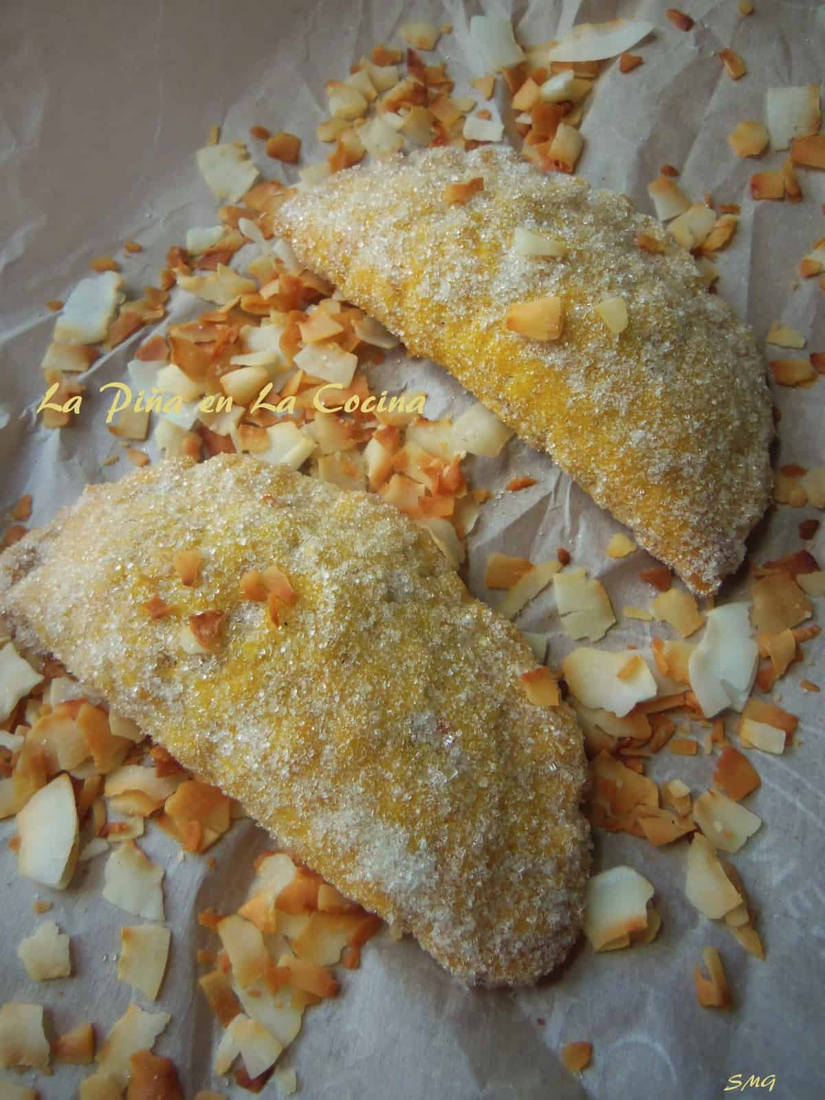 Pineapple Mango Empanadas with Toasted Coconut