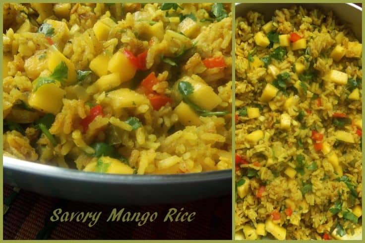 A Savory Mango Rice Recipe I Developed for Hispanic Kitchen. Click Onto Picture to see Recipe