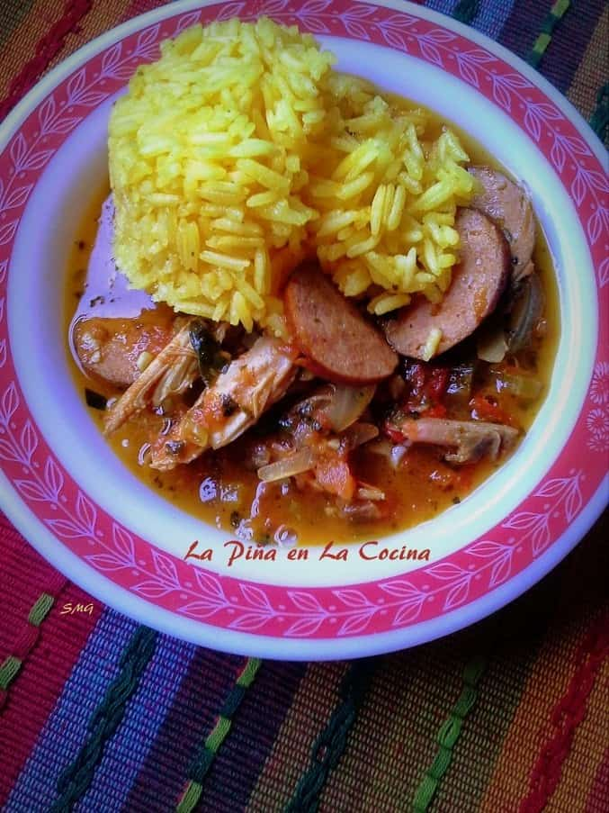 A fusion of Creole and Mexican flavors with the bonus of smoked chicken and andouille sausage.