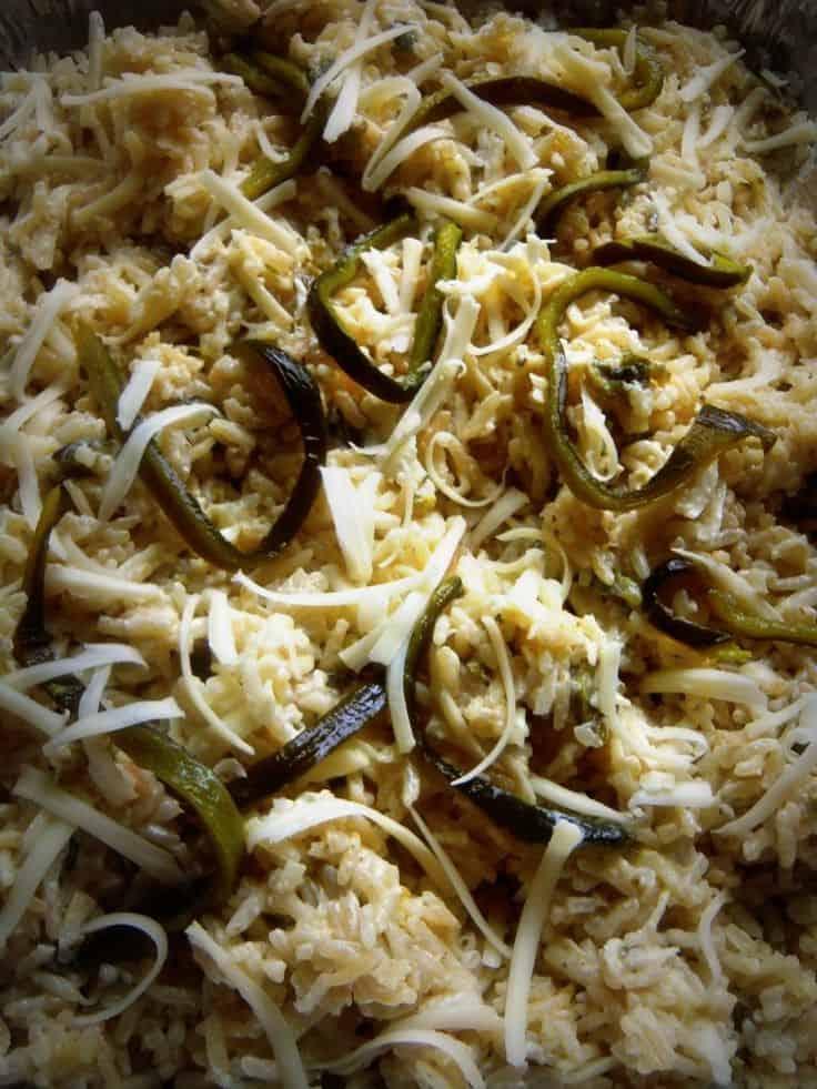 Arroz Cremoso (Creamy/Cheesy Poblano Rice)