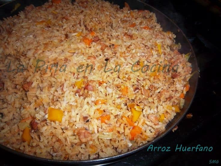 Arroz Huerfano~Orphan Rice, my Tia Minerva's Recipe