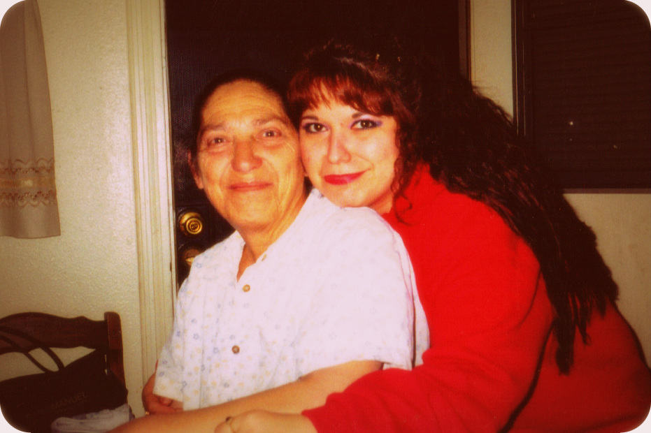 My Mom and me...We shared birthdays, just one day apart, in September.