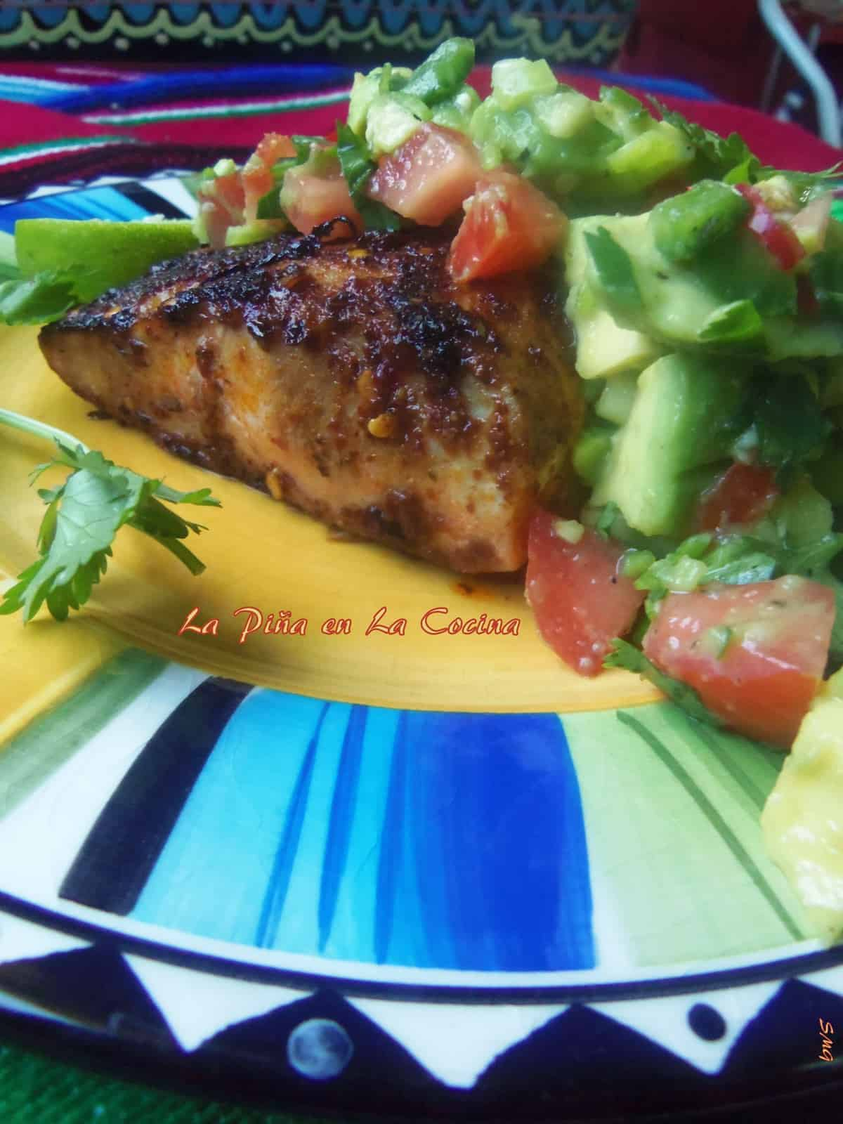 Pan Seared Marinated Mahi Mahi