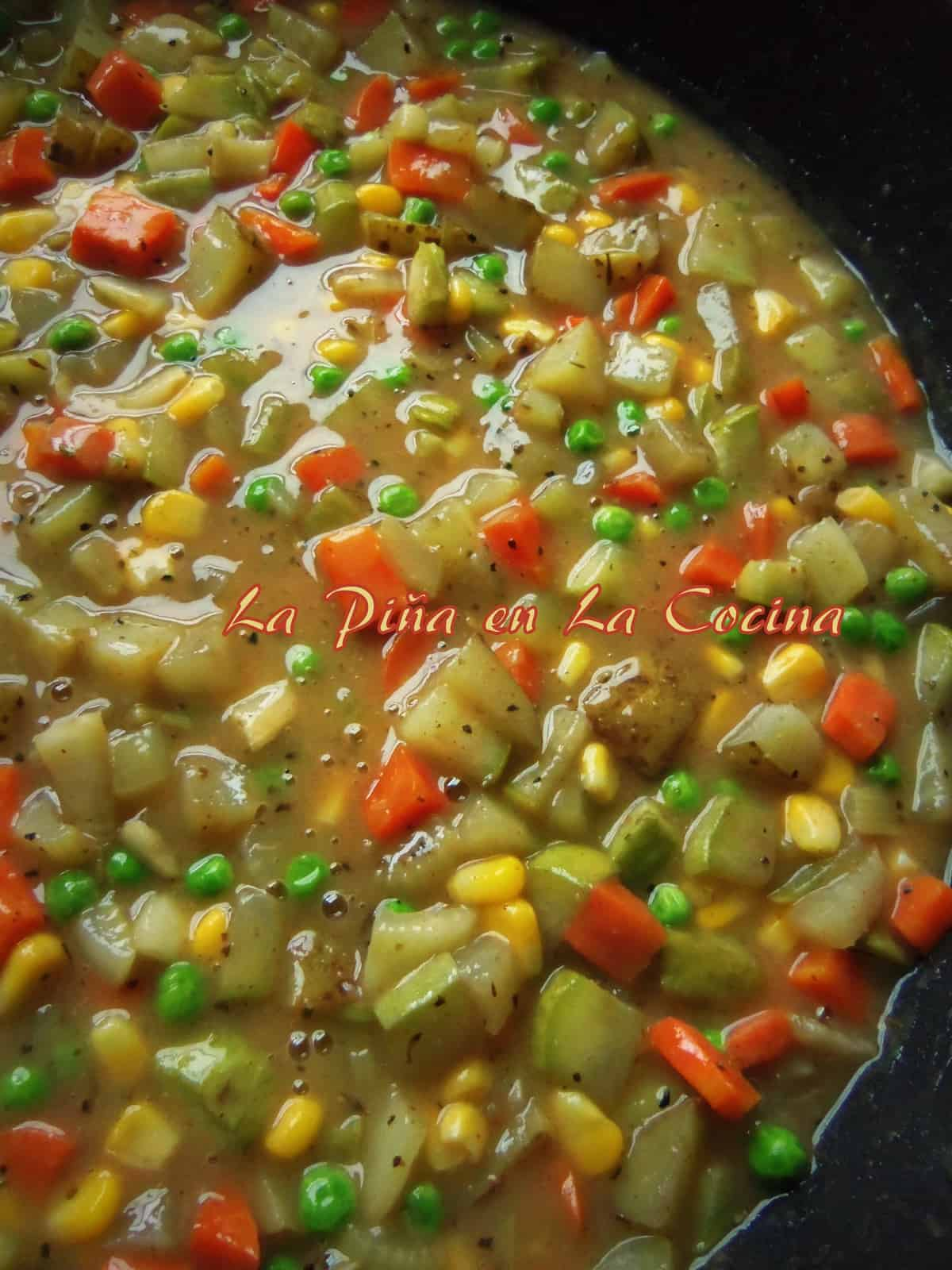 Loaded Veggie Pot Pie Filling