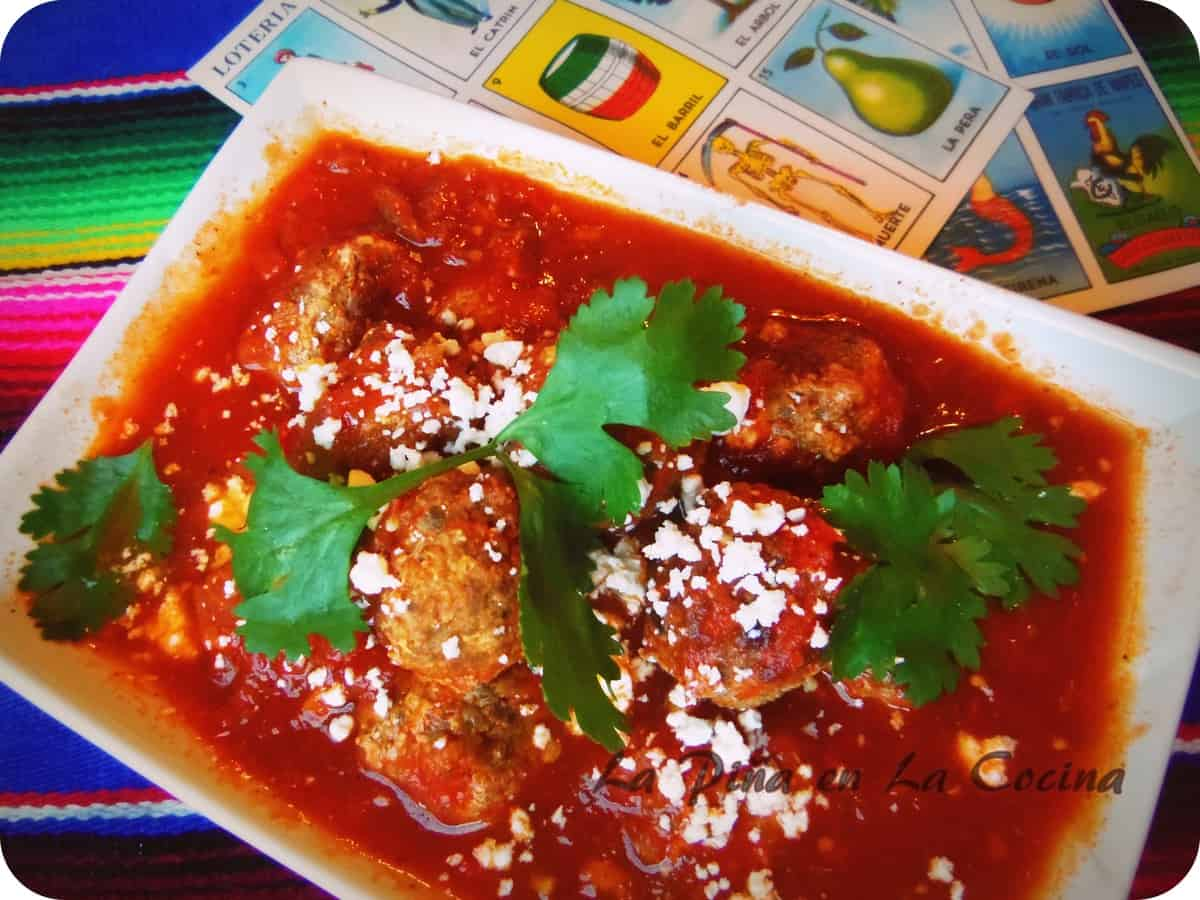 Mini Meatballs in a Tequila Spiked Spicy Red Sauce