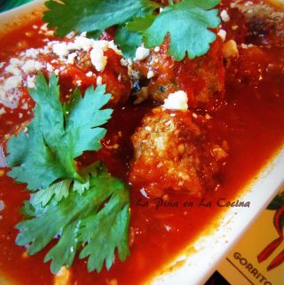 Mini Meatballs in a Spicy Red Salsa(Albondigas en Salsa)