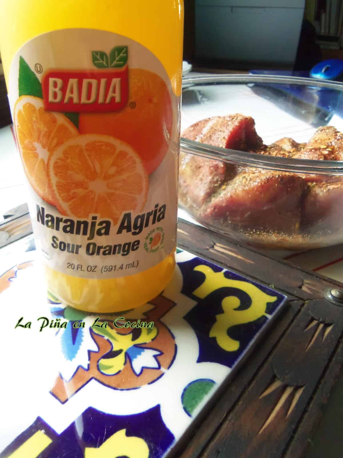 A little help from the store with this Badia Brand Sour Orange Marinade