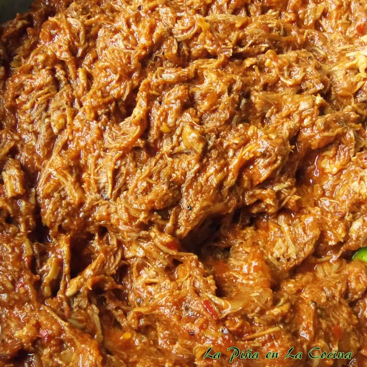 Start the marinated pork in the slow cooker and finish on the stove top. Cochinita Pibil Style Shredded Pork.
