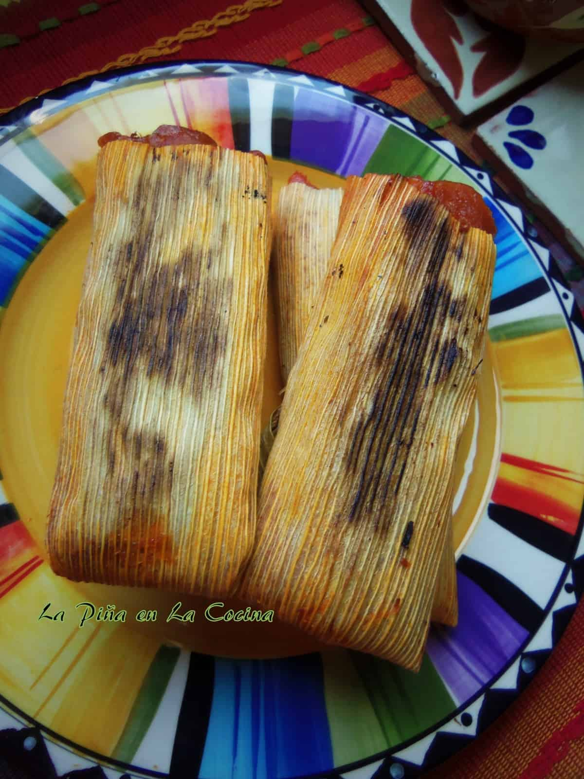 My favorite way to enjoy tamales is the next day when I can reheat them on a hot comal.