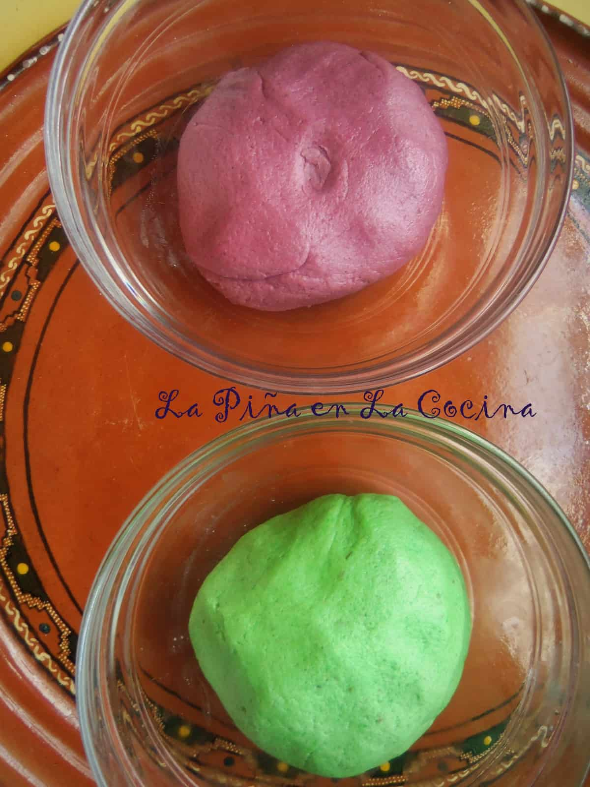 Colored Cookie Dough For Cut-Outs