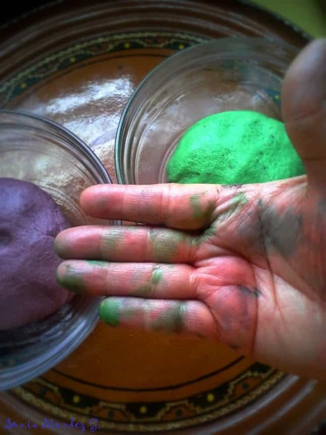 For me, the coloring of the cookie dough was the hardest thing to do with my bad wrist/arm. Ouch! But it was worth it.