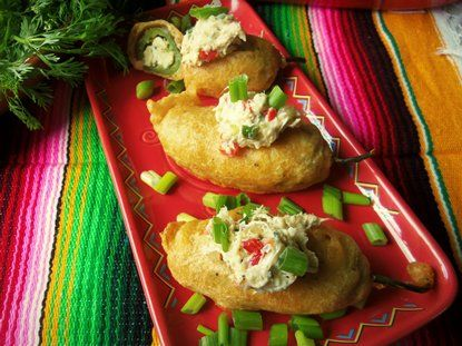 Beer Battered Jalapeño Poppers Stuffed with Crab