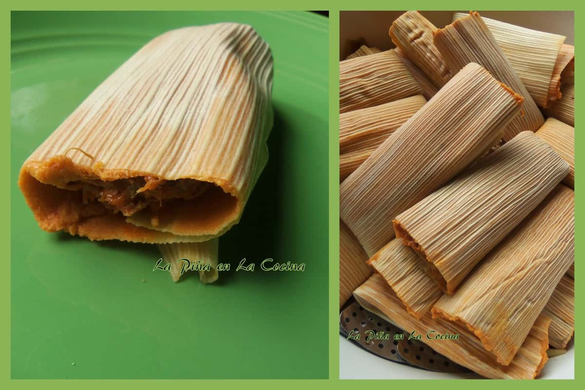 Pork Pibil Tamales Ready to be Steamed
