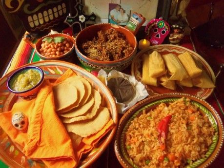 Traditional Foods Prepared For Day Of The Dead