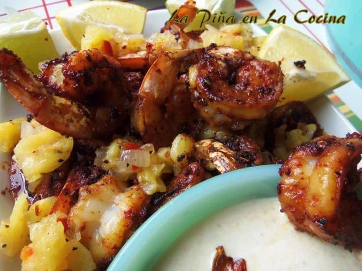 Blackened Shrimp with Pineapple Salsa