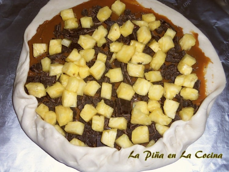 Tarta de Piña-Rustic Pineapple Chocolate Tart