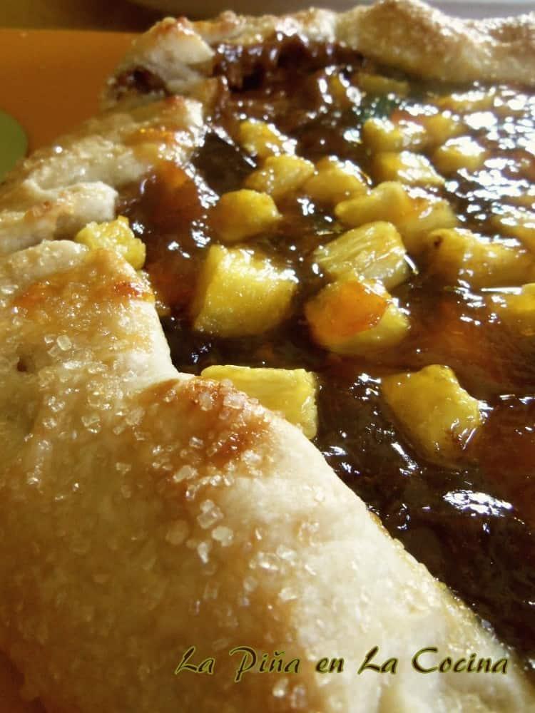 Tarta de Piña-Rustic Pineapple Chocolate Tart