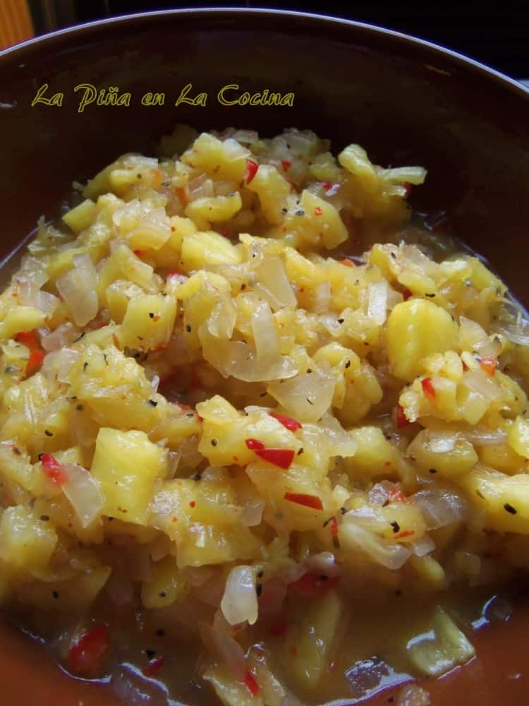Cooked Pineapple Habanero Salsa