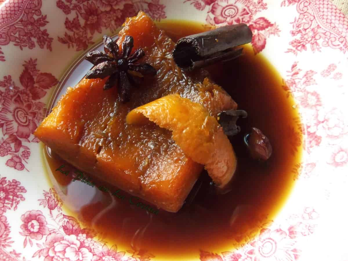 Calabaza en Tacha, Pumpkin in a Brown Sugar Syrup