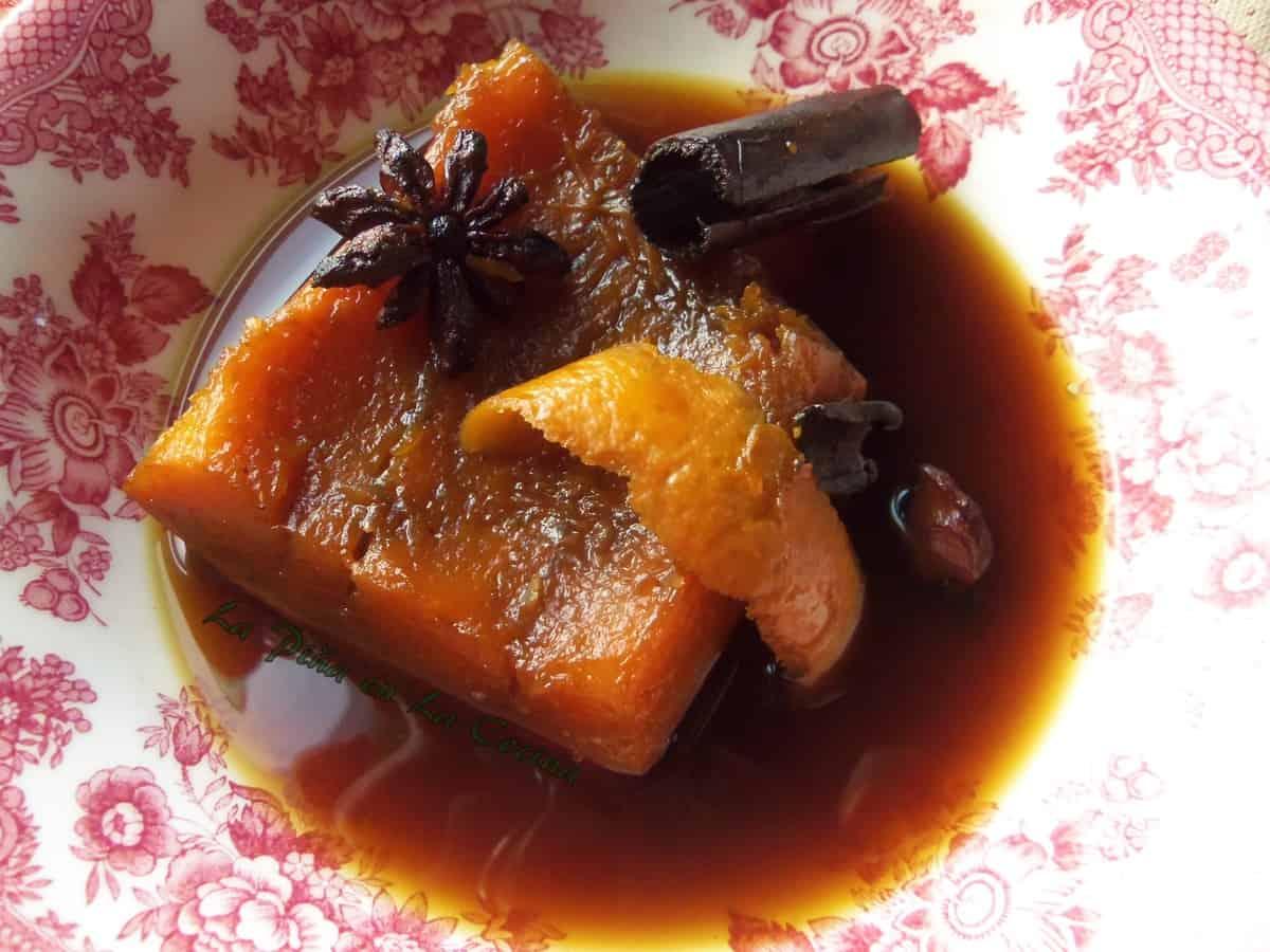 Calabaza en Tacha, Pumpkin in a Brown Sugar Syrup