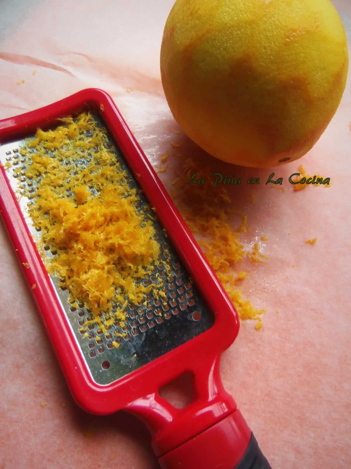 Zest the oranges with the zester facing up. This way you can see where you need to move next.