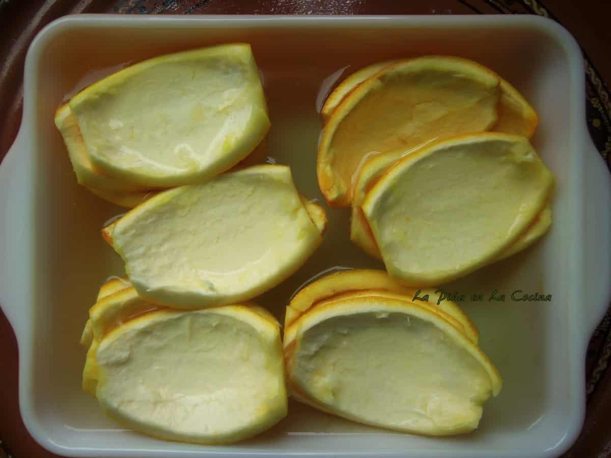 Orange Peels Soaked in a Salt Water Solution