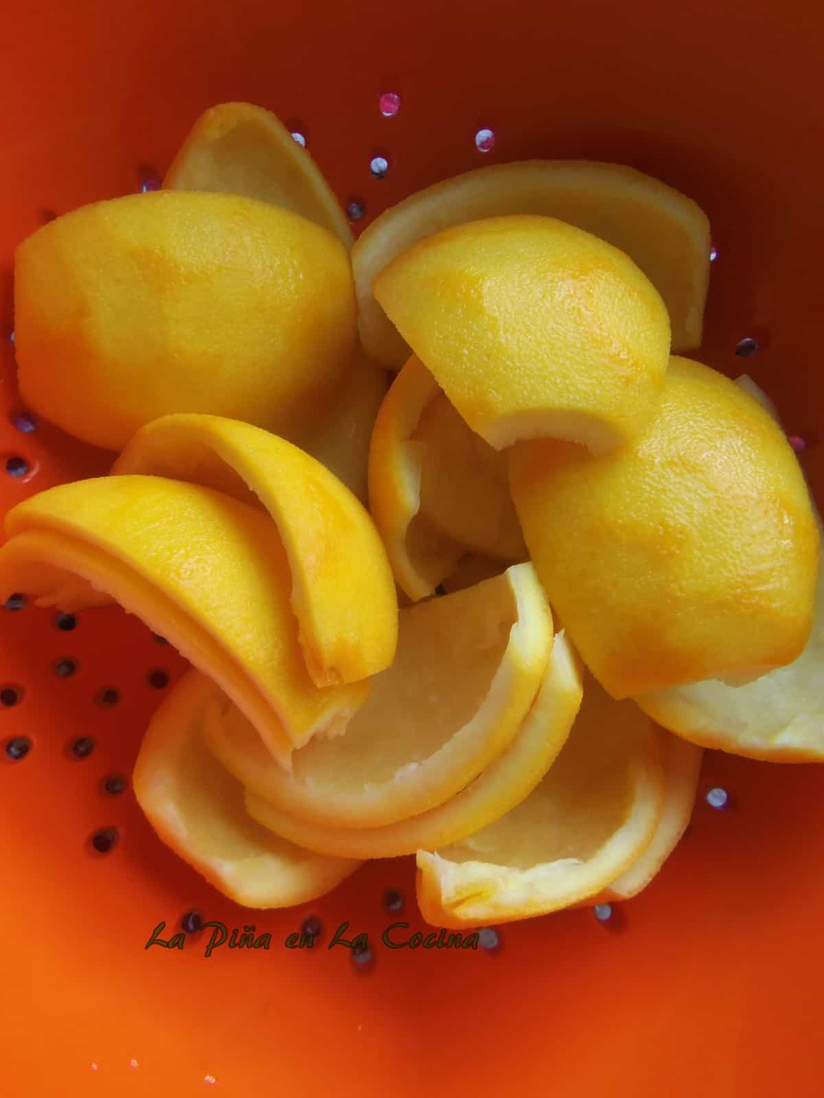 Rinsed Orange Peels