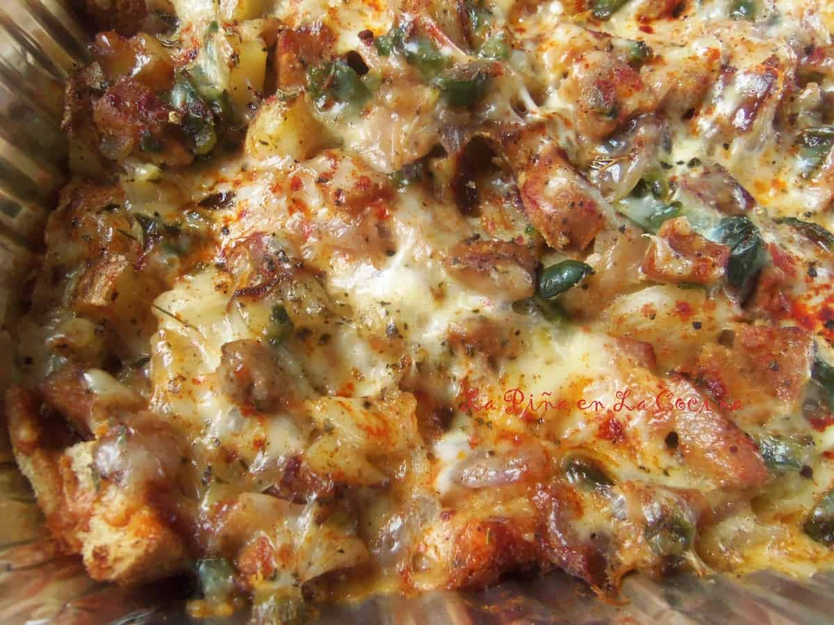 Poblano Potato and Sausage Casserole