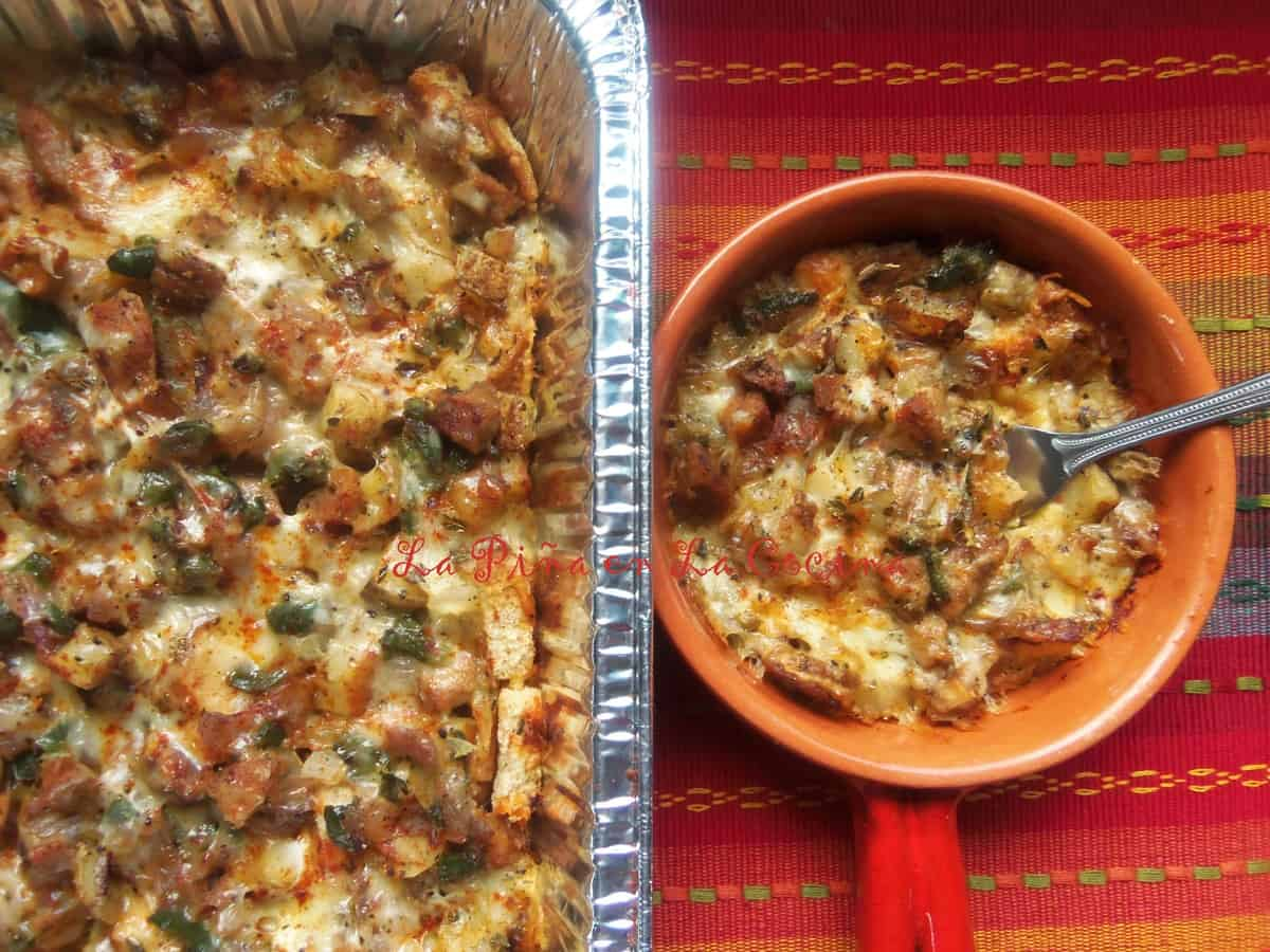 Poblano and Turkey Sausage Casserole