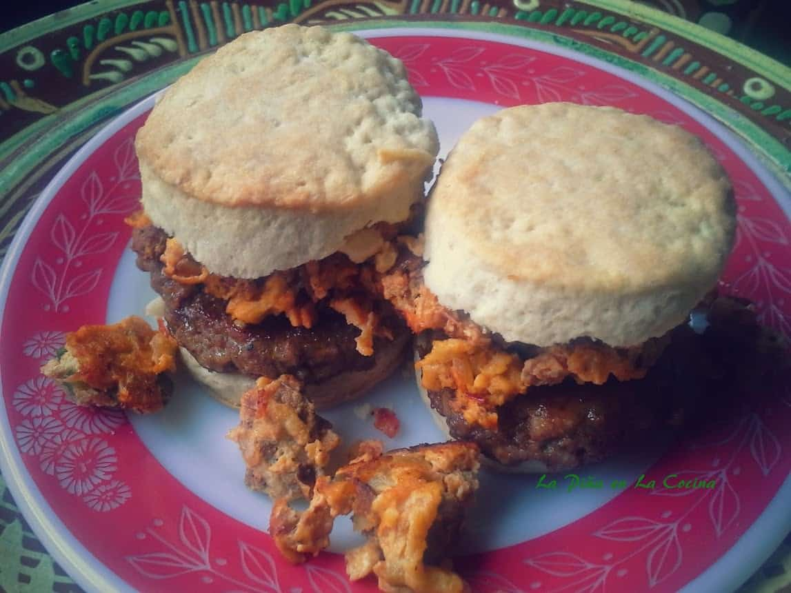 Breakfast Sausage/Chorizo Biscuit Sandwiches