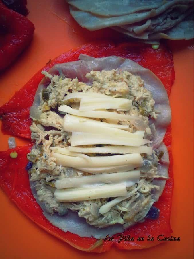 Chicken and Jalapeño Stuffed Poblanos