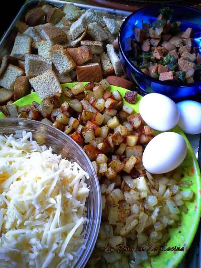 Poblano Potato and Sausage Casserole