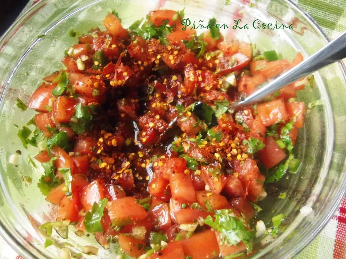 Chile Piquin and Garlic Pico