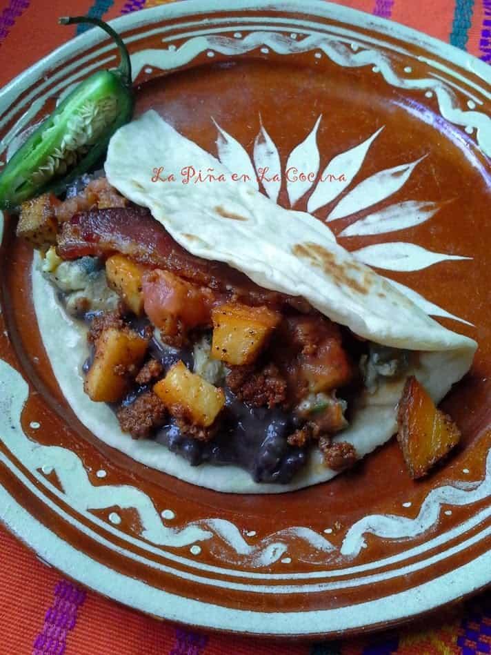 Chorizo con Papa Tacos