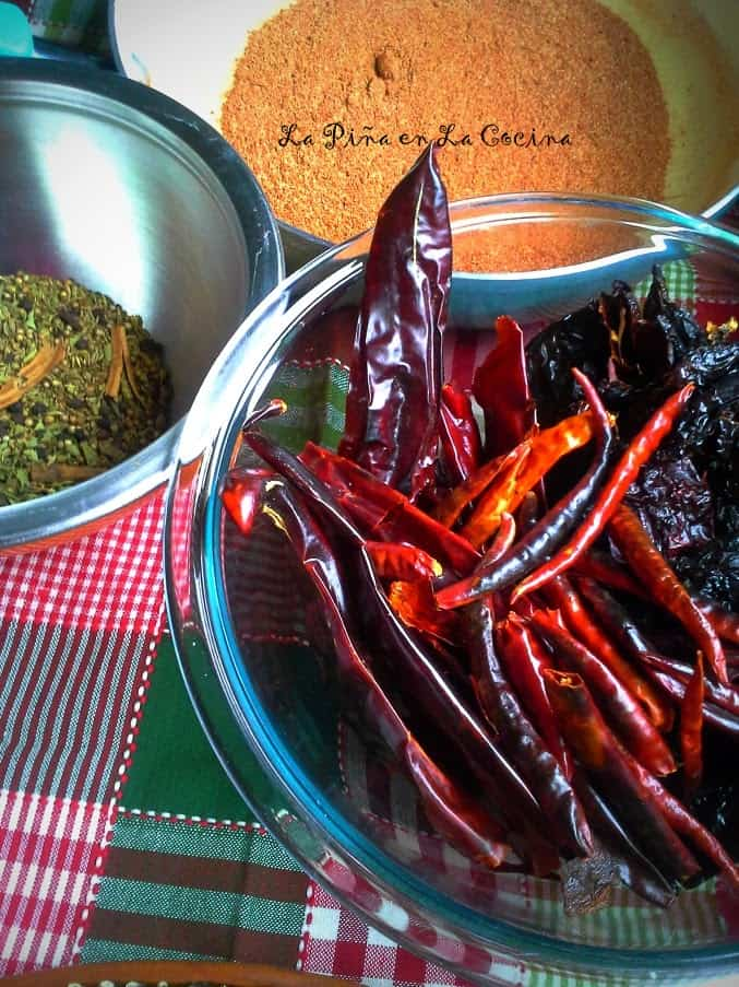 Toasted Chiles and Spices  For Chorizo Blend
