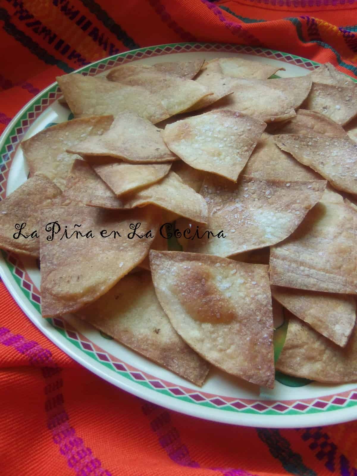 A lighter version to the traditional fried tortilla chip. Bring on the fresh salsa!