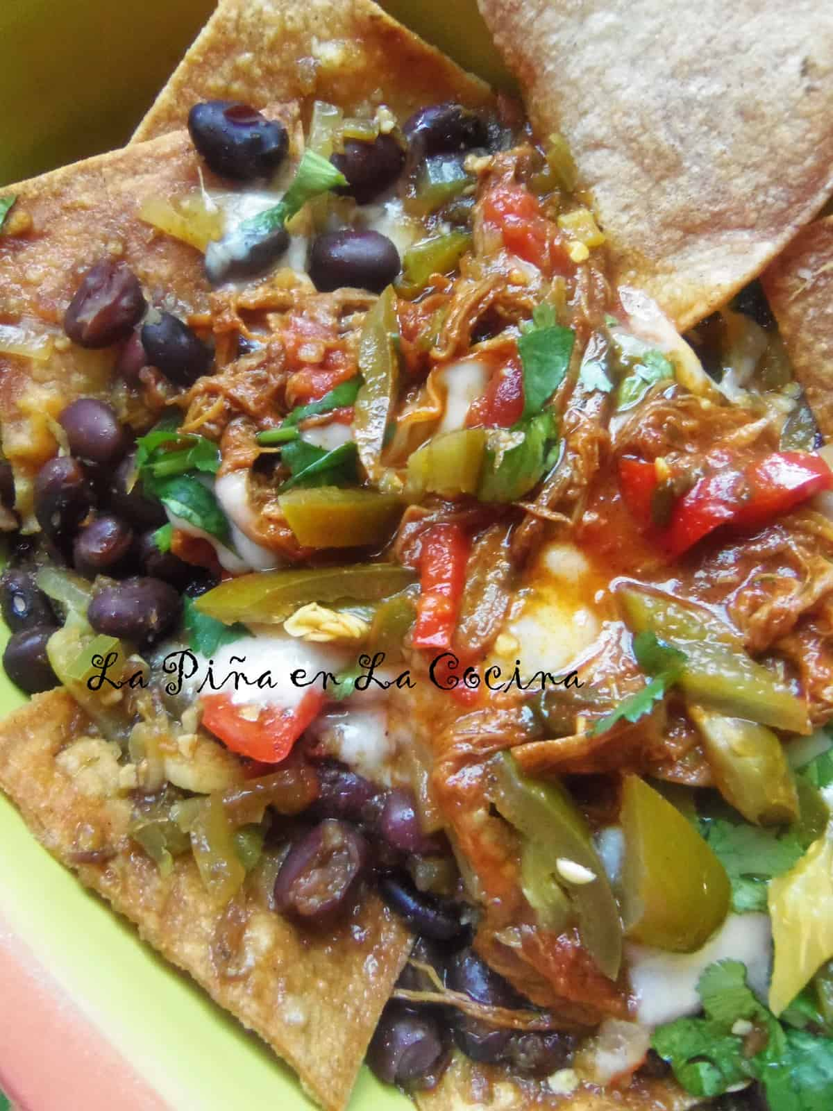 Tex Mex meets Cuban! How about some Ropa Vieja Nachos with smoky black beans, tender flank steak, jalapeños and your favorite melting cheese.