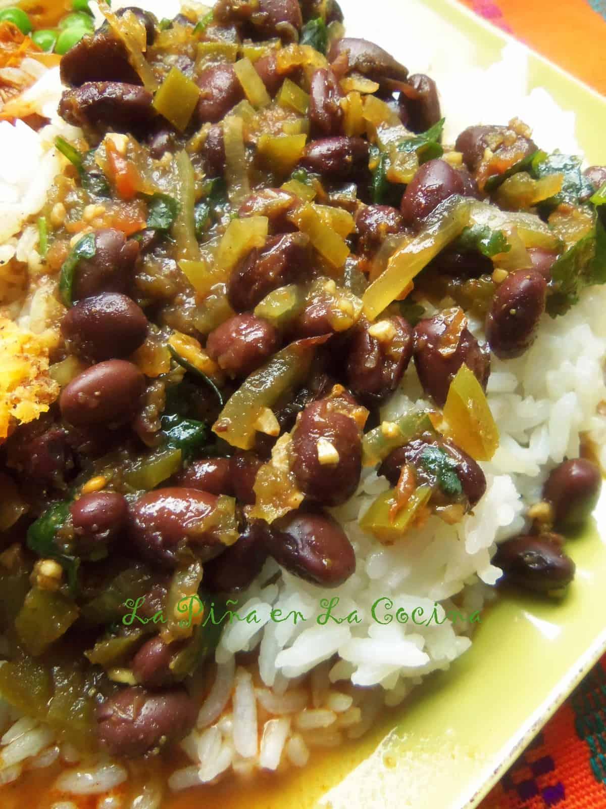 Quick Cuban Style Black Beans