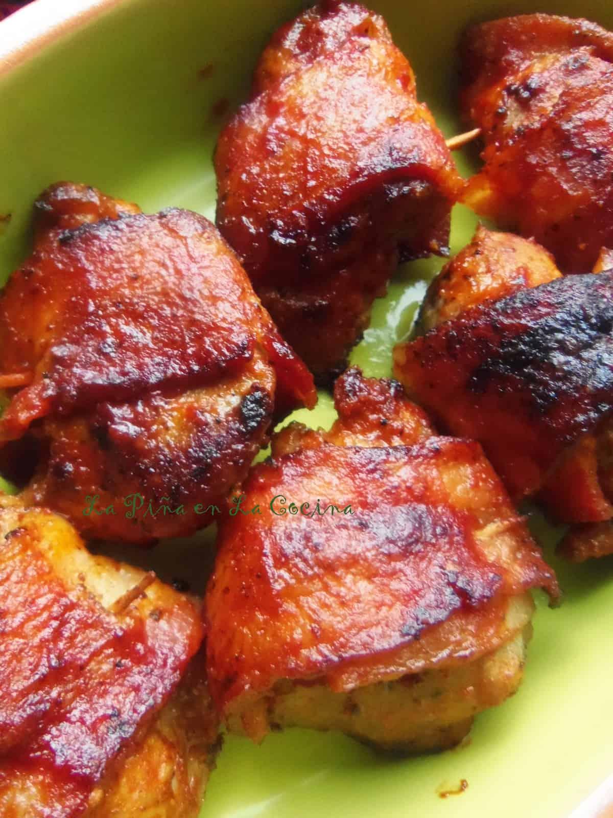 Bacon Wrapped Sriracha Pork Tenderloin Tips