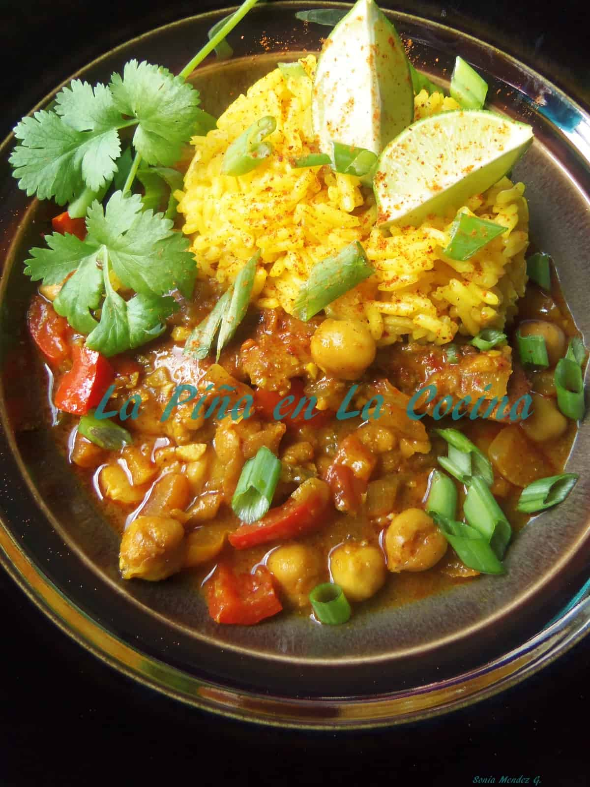 Spicy Chicken and Chickpea Curry