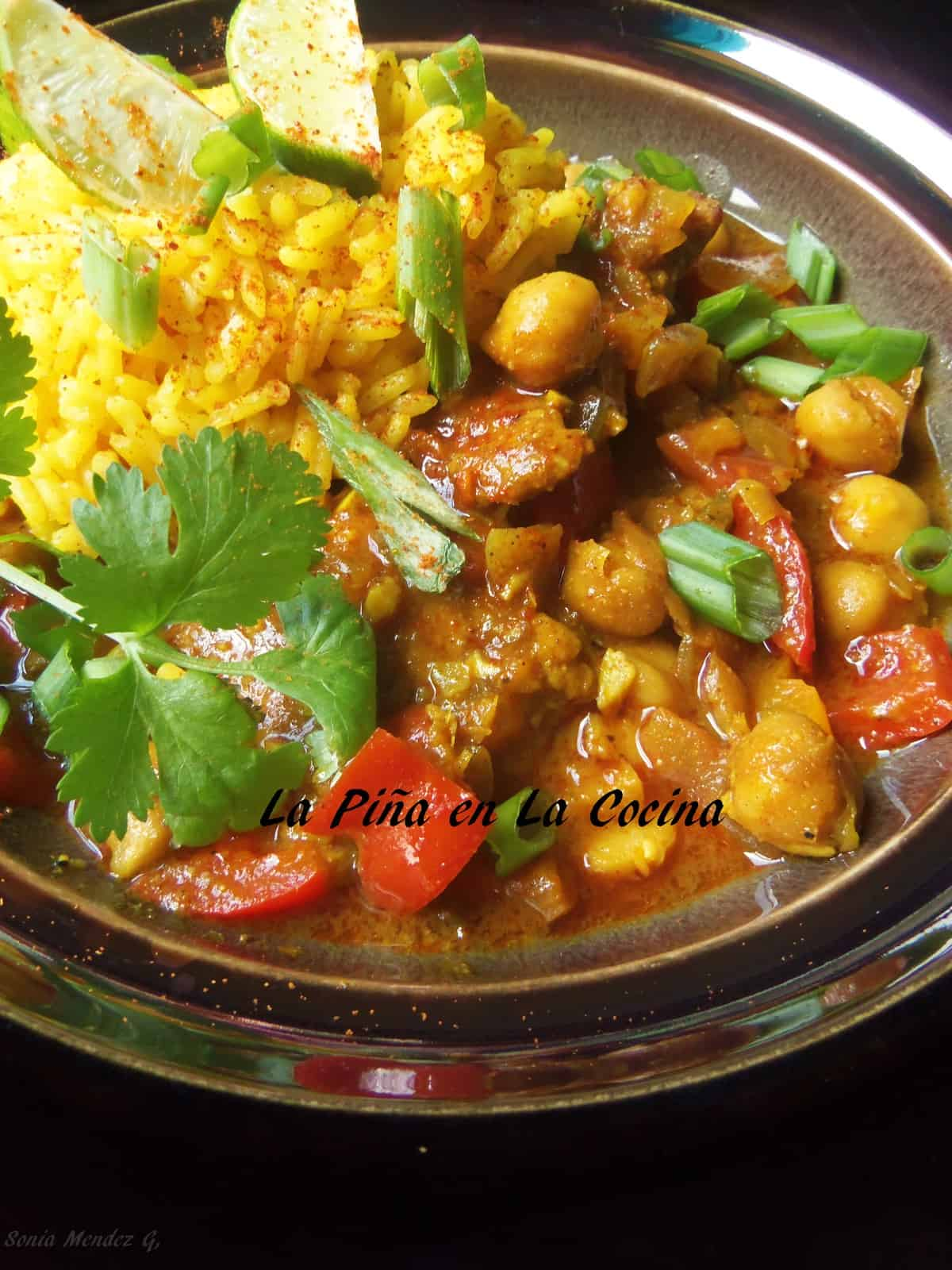 Spicy Chicken Curry with Chickpeas