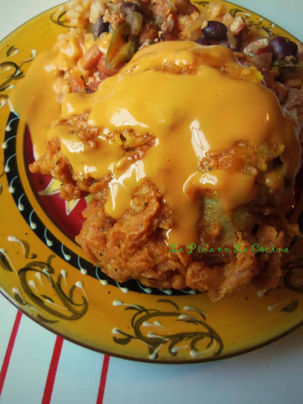 Extra Crispy Fried Chicken with a Spicy Honey Mustard Sauce